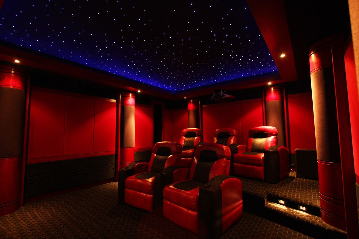 really like the fiber optic star ceilings for media rooms home theatre design