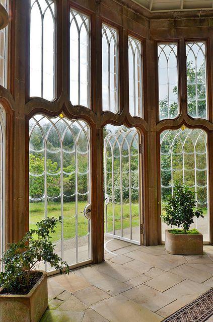 Gothic Camellia house interior, Culzean Castle