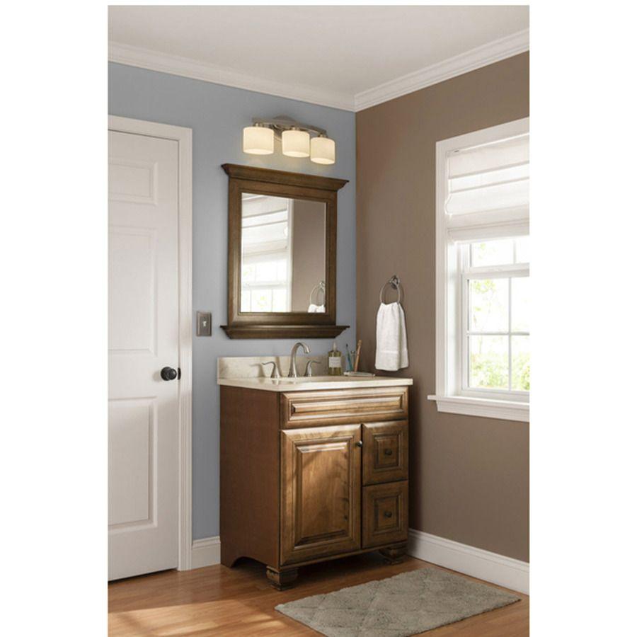 Shop Allen Roth 3 Light Merington Brushed Nickel Bathroom Vanity Light At 69 For