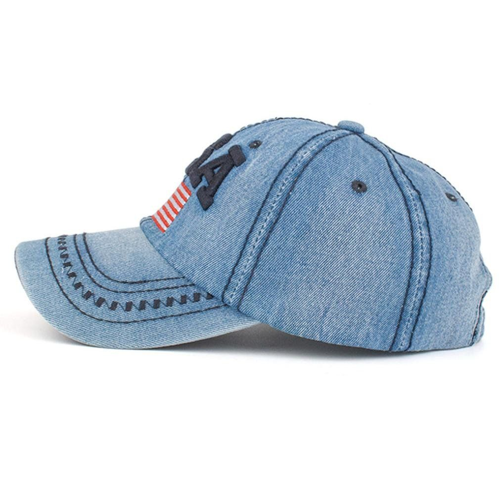 25e69239d66 Ladies Golf    Aniywn Women Men USA Flag Denim Rhinestone Baseball Cap  Snapback Hip Hop Flat Hat Free Size Navy   Look into the picture by going  to the web ...