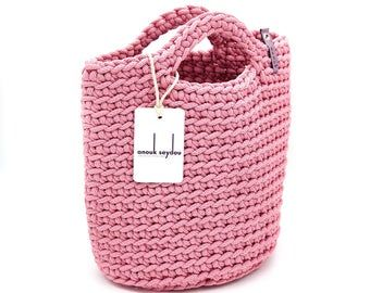 100% handmade & fully recyclable crochet tote bags di anoukseydou