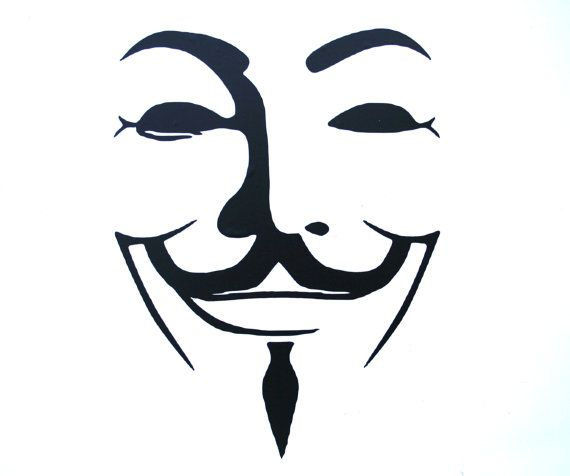 Guy Fawkes V For Vendetta Vinyl Logo Decal Sticker For Laptop Ipad