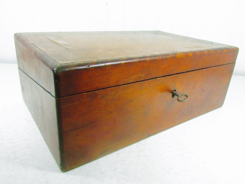 Antique lap desk, primitive desk, writing desk,ink well, writing box, laptop  desk, storage box, wood desk, vintage desk - Antique Lap Desk, Primitive Desk, Writing Desk,ink Well, Writing Box