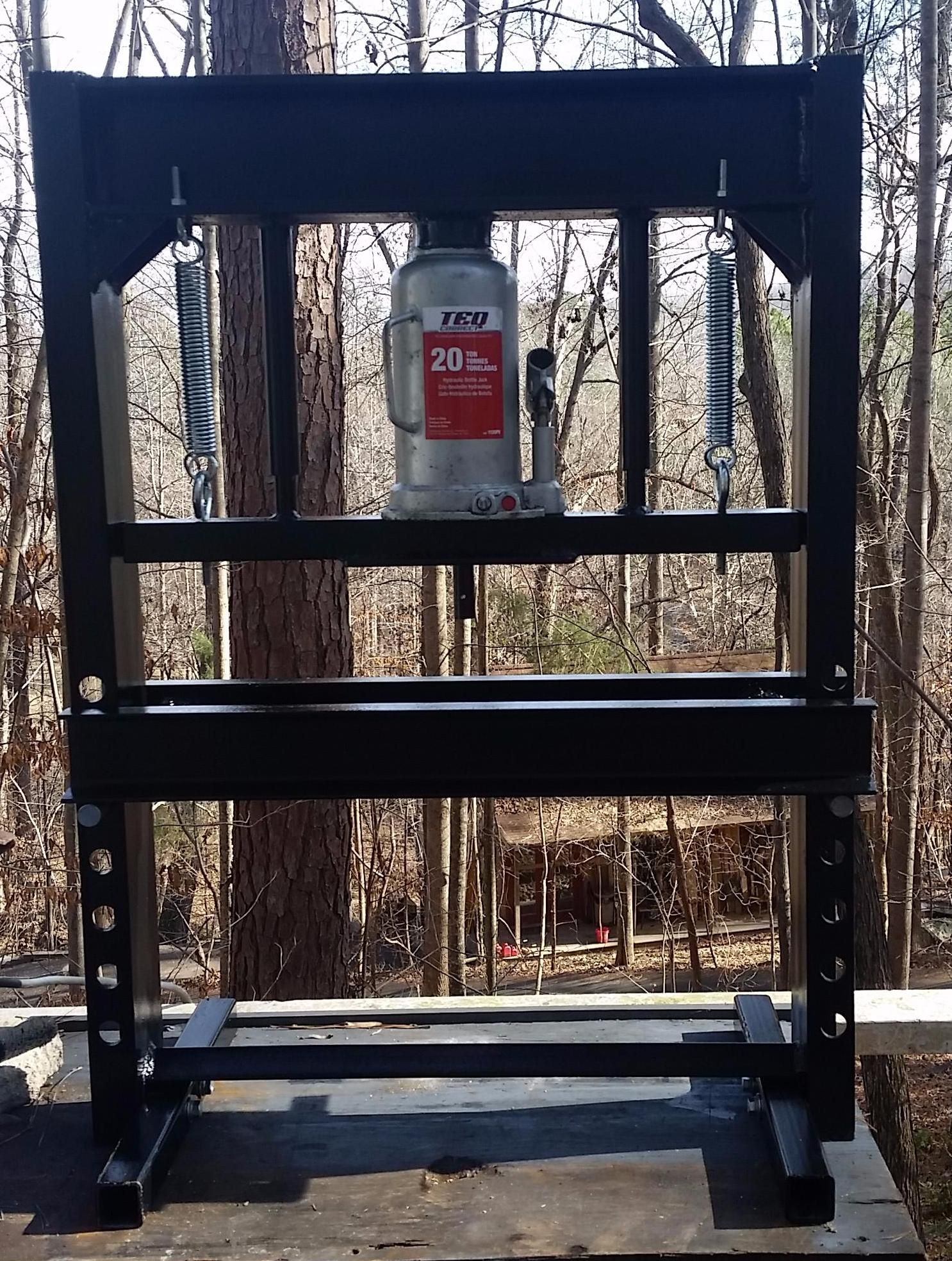 Hydraulic shop press build x post from rmetalworking do it hydraulic shop press build x post from rmetalworking diy weldingwelding projectsdiy solutioingenieria Image collections
