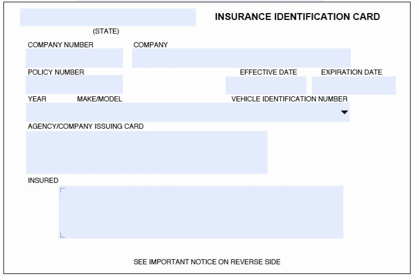 Fake Car Insurance Card Template Awesome Fake Car Insurance Card Pdf In 2020 Id Card Template Card Templates Free Car Insurance