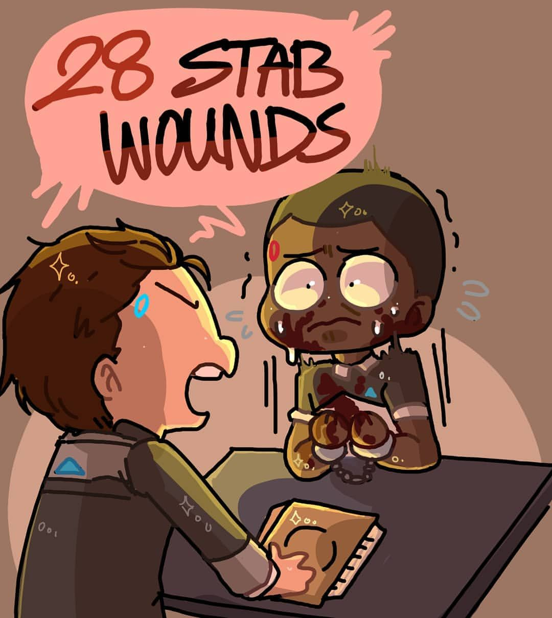 DAY 12 28 StAb wOuNdS??! #androidappreciationaugust #dbh# ...