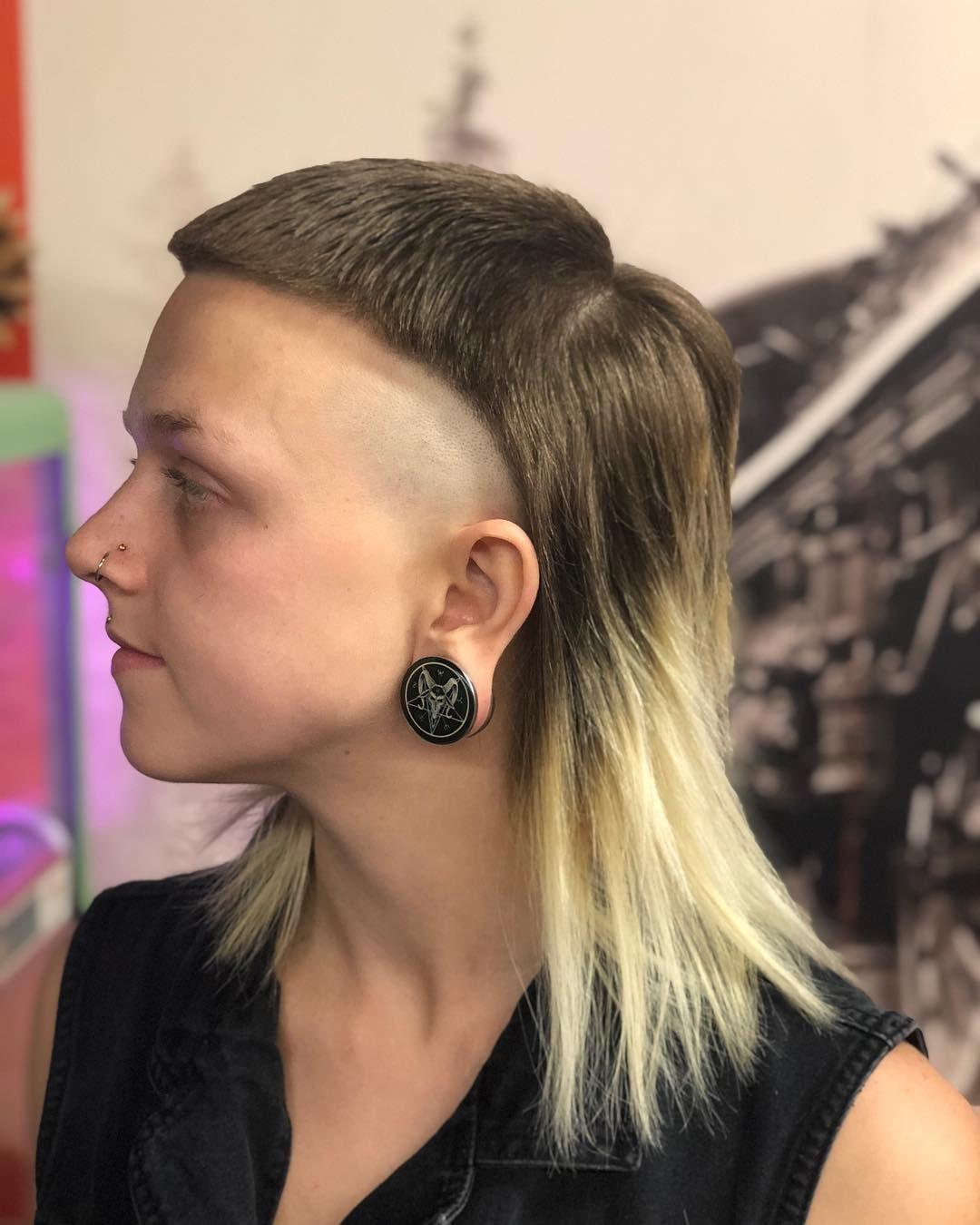 Modern mullet girl radical hairstyles pinterest modern mullet