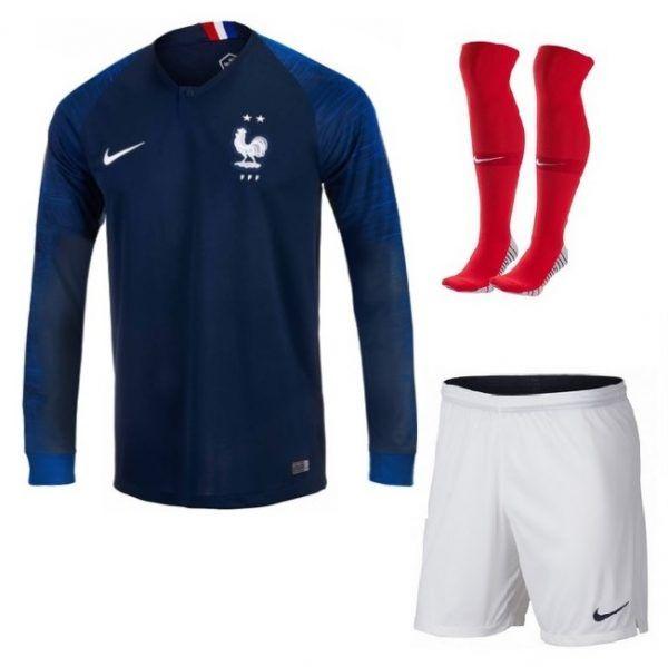 Comprar Maillot de fútbol de Francia Home Kit entero de manga larga 2019 -  Tienda de jersey de fútbol a10d964916254