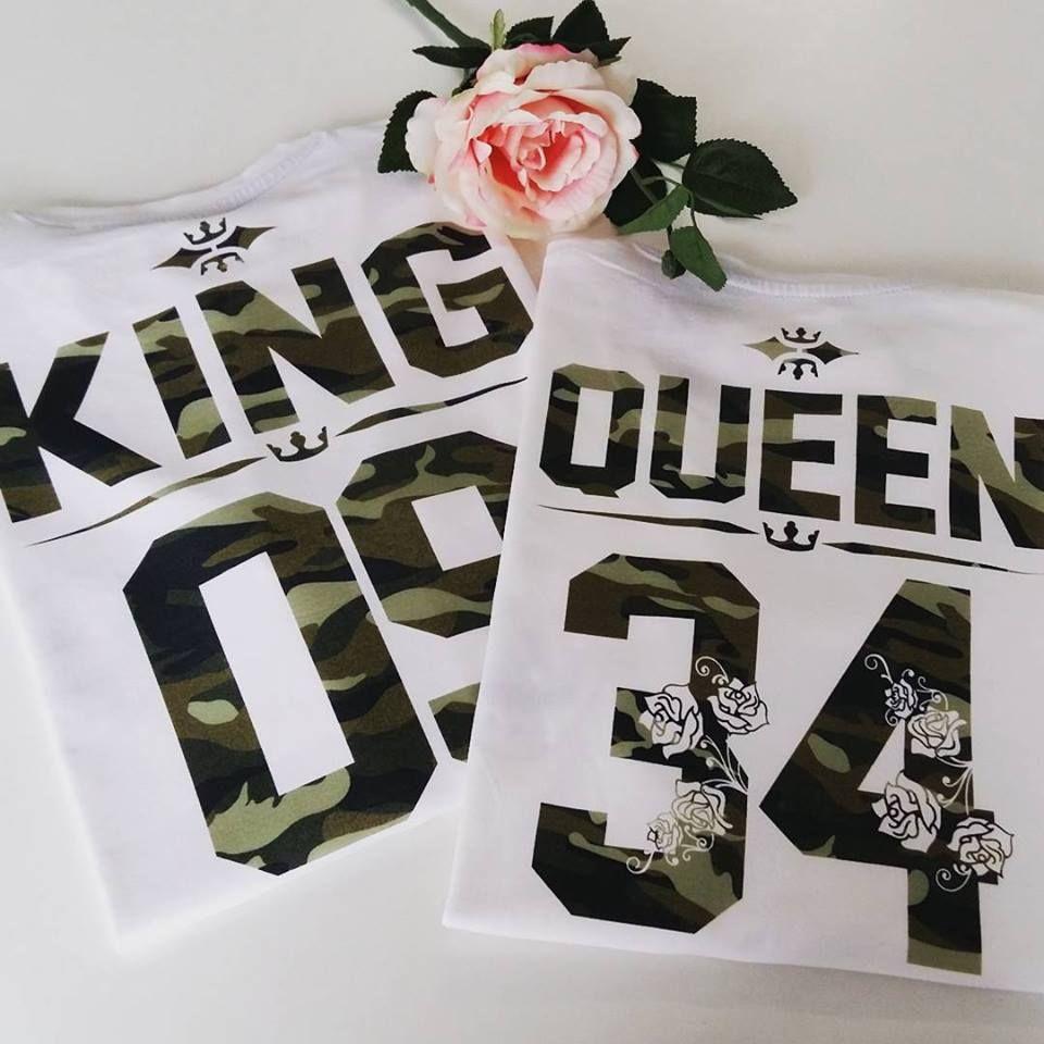 King And Queen Camo Couple T Shirts Camo Shirts King