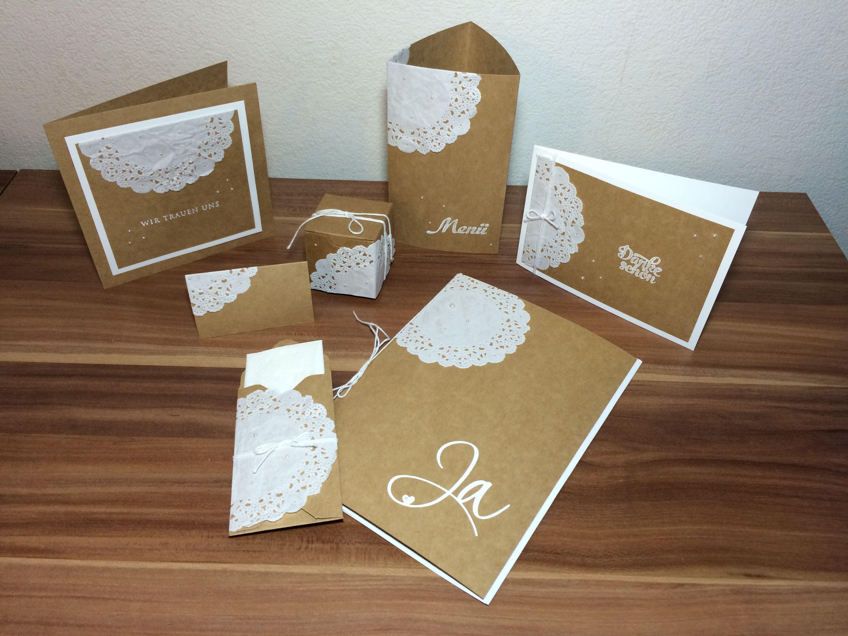 Hochzeit Wedding StampinUp Einladung Danksagung Gastgeschenk Platzkarte  Menükarte Gästebuch Kirchenheft Fingerprint Candybar