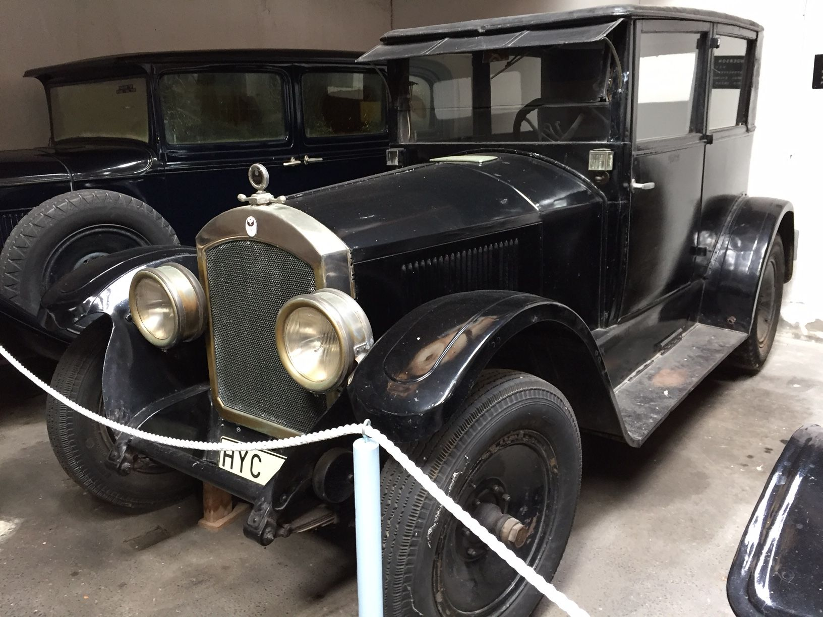 1922 Anderson Sport 2 door coach in an aviation museum in