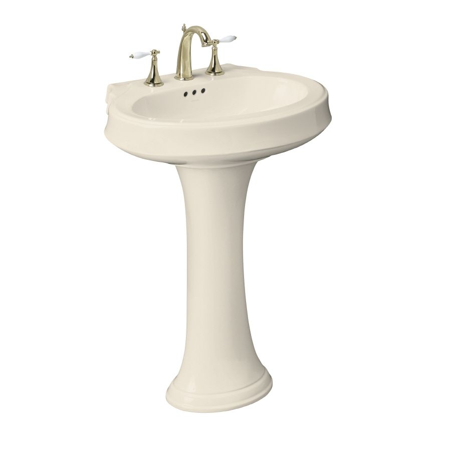 Lowes Pedestal Sink Leighton Almond Vitreous China Complete Pedestal Sink At Lowes Com Sink Pedestal Sink Lowes Home Improvements [ 900 x 900 Pixel ]