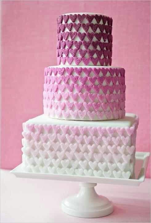 Purple n white cake