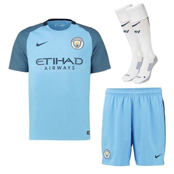 Manchester City Jersey 2016/17 Home Soccer Kit (Shirt+Shorts+Socks)