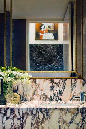 marble sink counter, brass:
