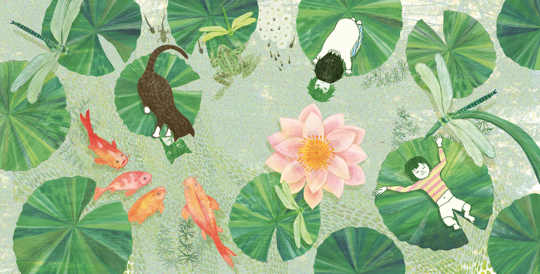 Un annuncio di bellezza, il giardino dei sogni e il ramo fiorito di passiflora