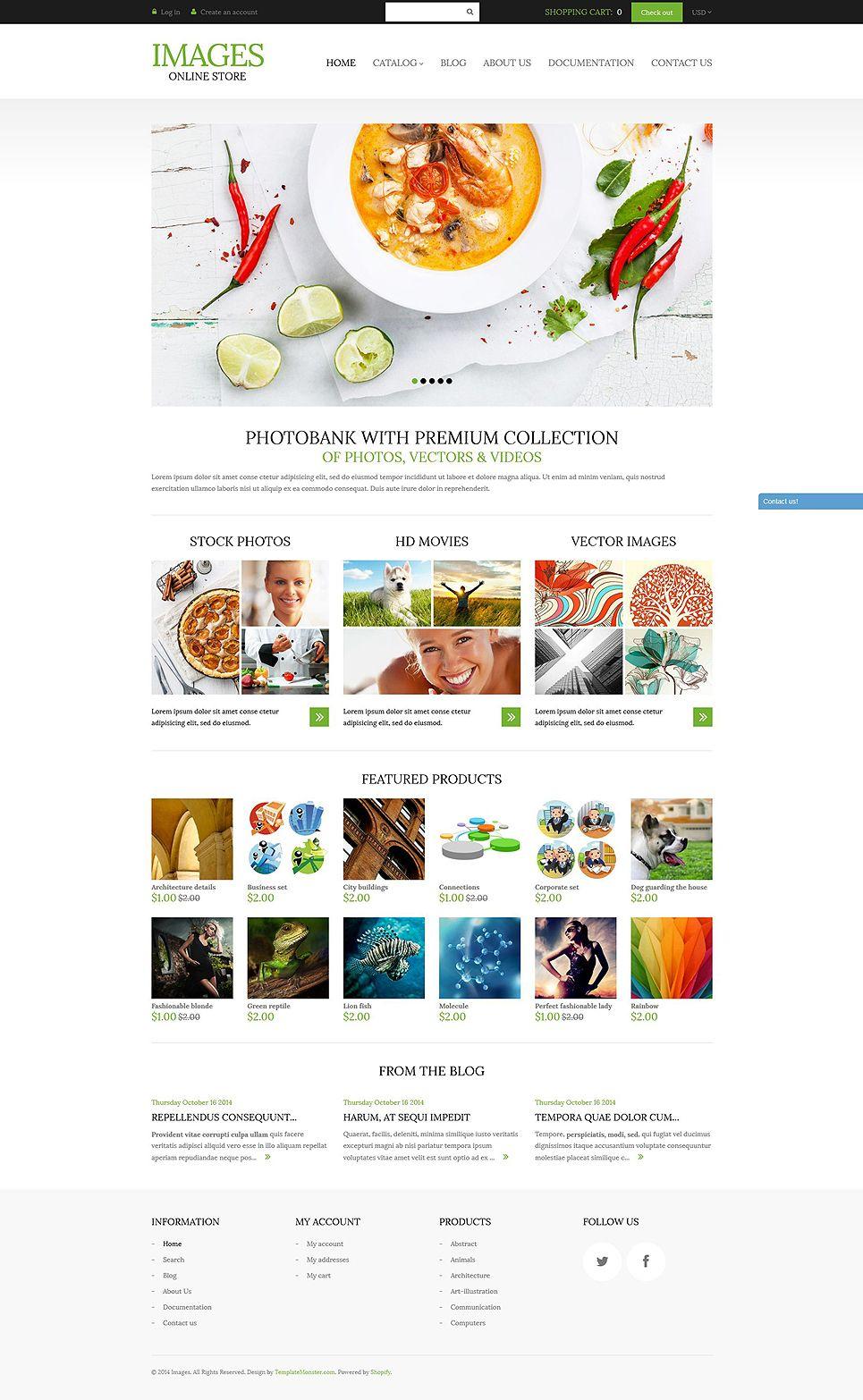 Art photography shopify theme 51966 templatemonster