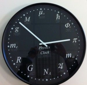 The physics clock in Meredith's office at TIMT  | Tempting Meredith