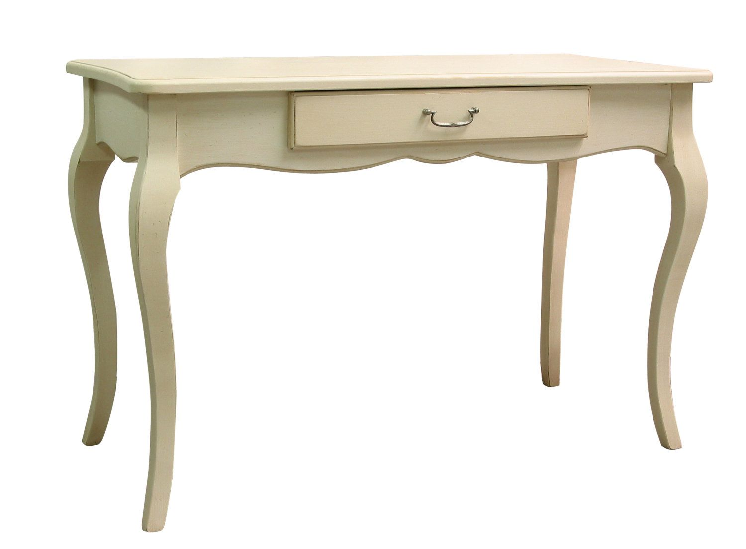 Louis French Writing Desk With 3 Drawers White Painted French Furniture Writing Desks Lad French Style Desk French Style Writing Desk French Writing Desk