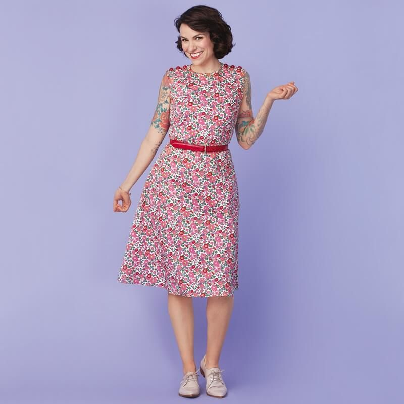 Floral Day Dress | Floral, Dress patterns and Free pattern