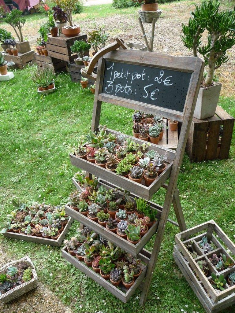 petites  u00e9tag u00e8res pour un maximum de plantes sur un minimum de place