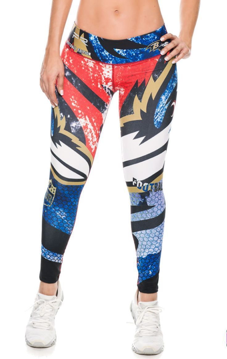 be82df667b3fb Fiber - Baltimore Ravens Leggings   Cute Workout Clothes for Women ...