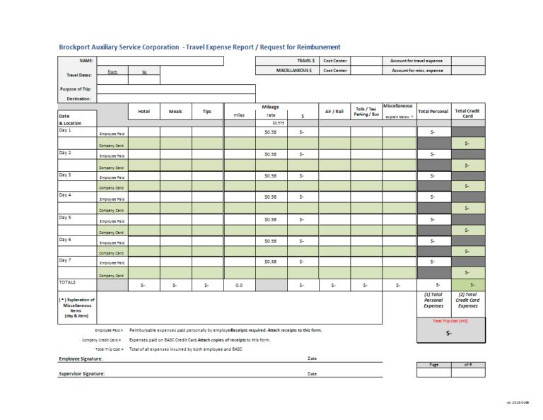 Request Reimbursement And Travel Expense Report Template Regarding Expense Report Template Xls In 2020 Spreadsheet Template Report Template Business Template