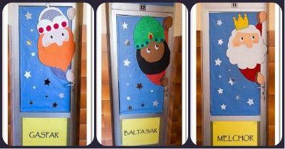 M s de 25 ideas incre bles sobre puerta navidad en for Ideas para decorar puertas navidenas