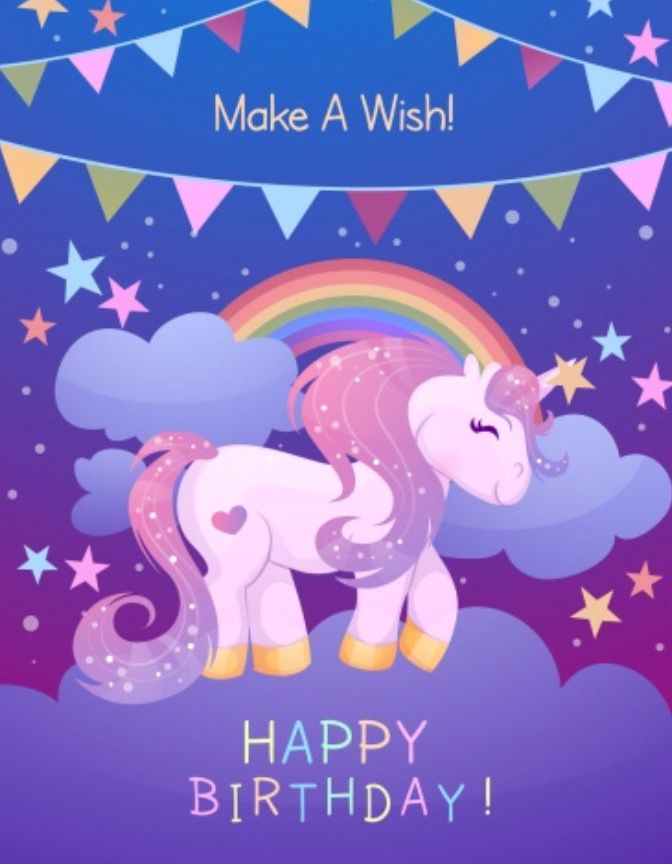 Birthday Unicorn Happy Birthday Images Birthday Wallpaper Birthday Greeting Cards Happy birthday unicorn wallpaper