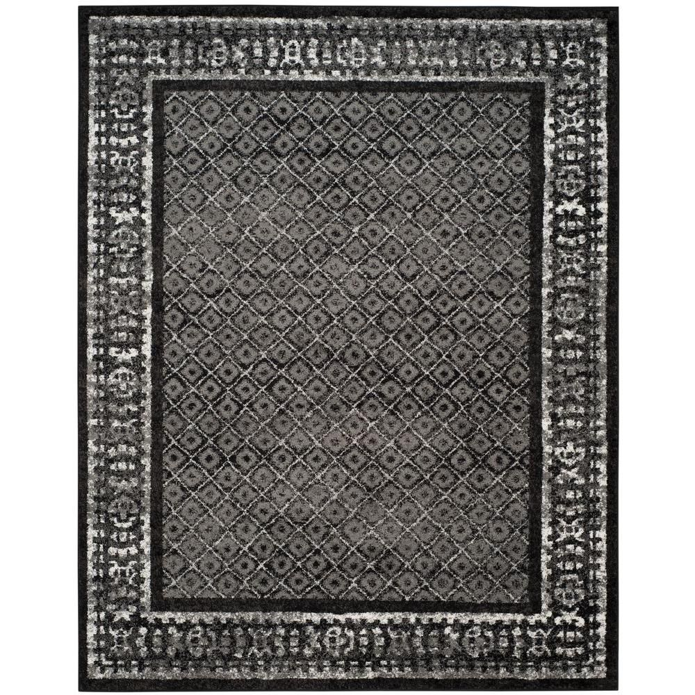 Safavieh Adirondack Black Silver 6 Ft X 9 Ft Area Rug Adr110a 6 Area Rugs Traditional Area Rugs Floral Area Rugs