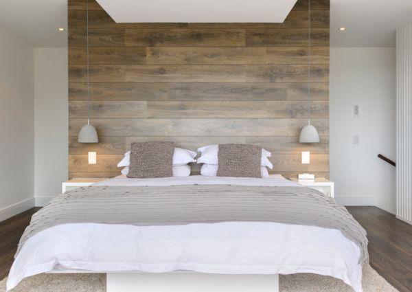 coole deko ideen schlafzimmer klein eng platzsparend bett schlicht - Bett Backboard Ideen