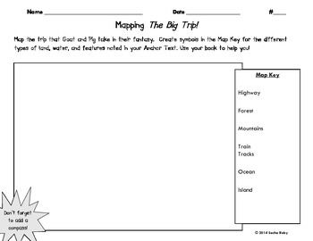 Using the anchor text story the big trip from lesson 17 of using the anchor text story the big trip from lesson 17 of houghton mifflins first grade journeys series students will map the trip of pig and fandeluxe Images