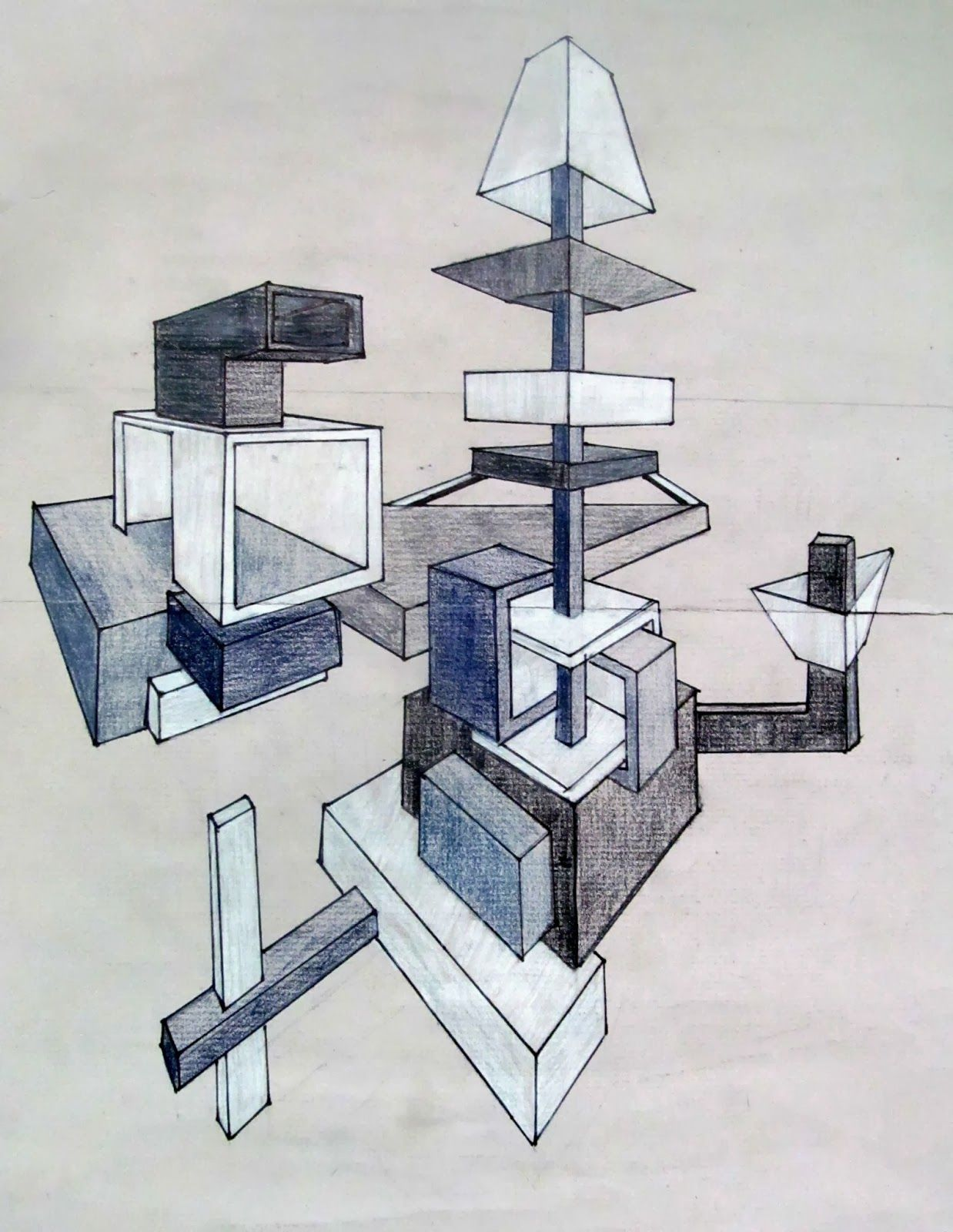 Space Museums 23 Point Perspective Drawings Isabella D I