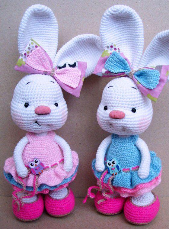 Pretty bunny amigurumi in dress | Pinterest | Amigurumi-muster ...