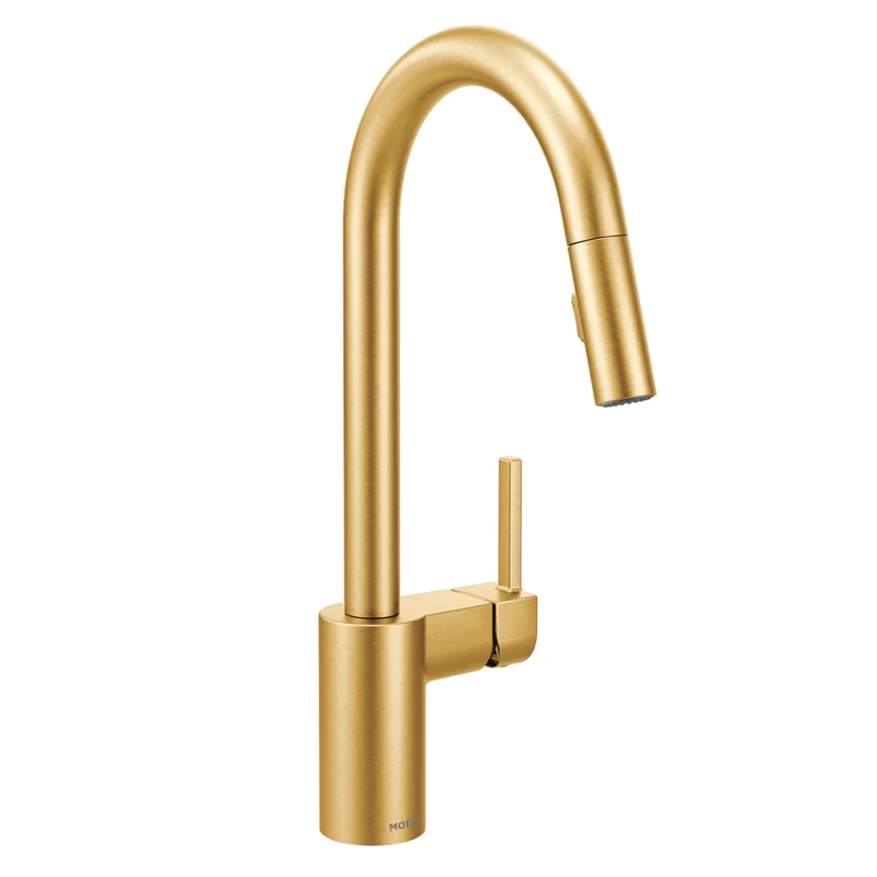 Align Pull Down Single Handle Kitchen Faucet Gold Kitchen Faucet