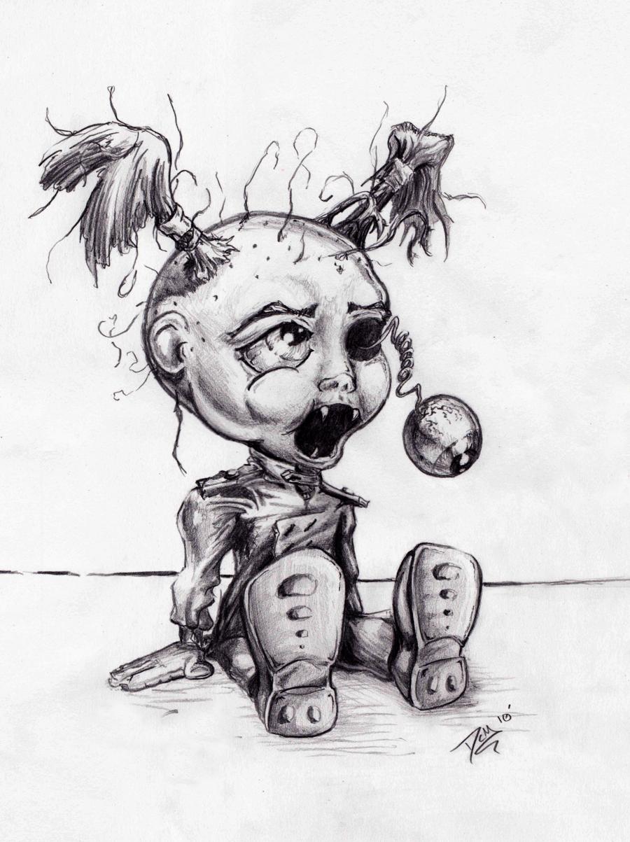 Creepy doll drawing | Doll drawing, Creepy drawings, Drawings