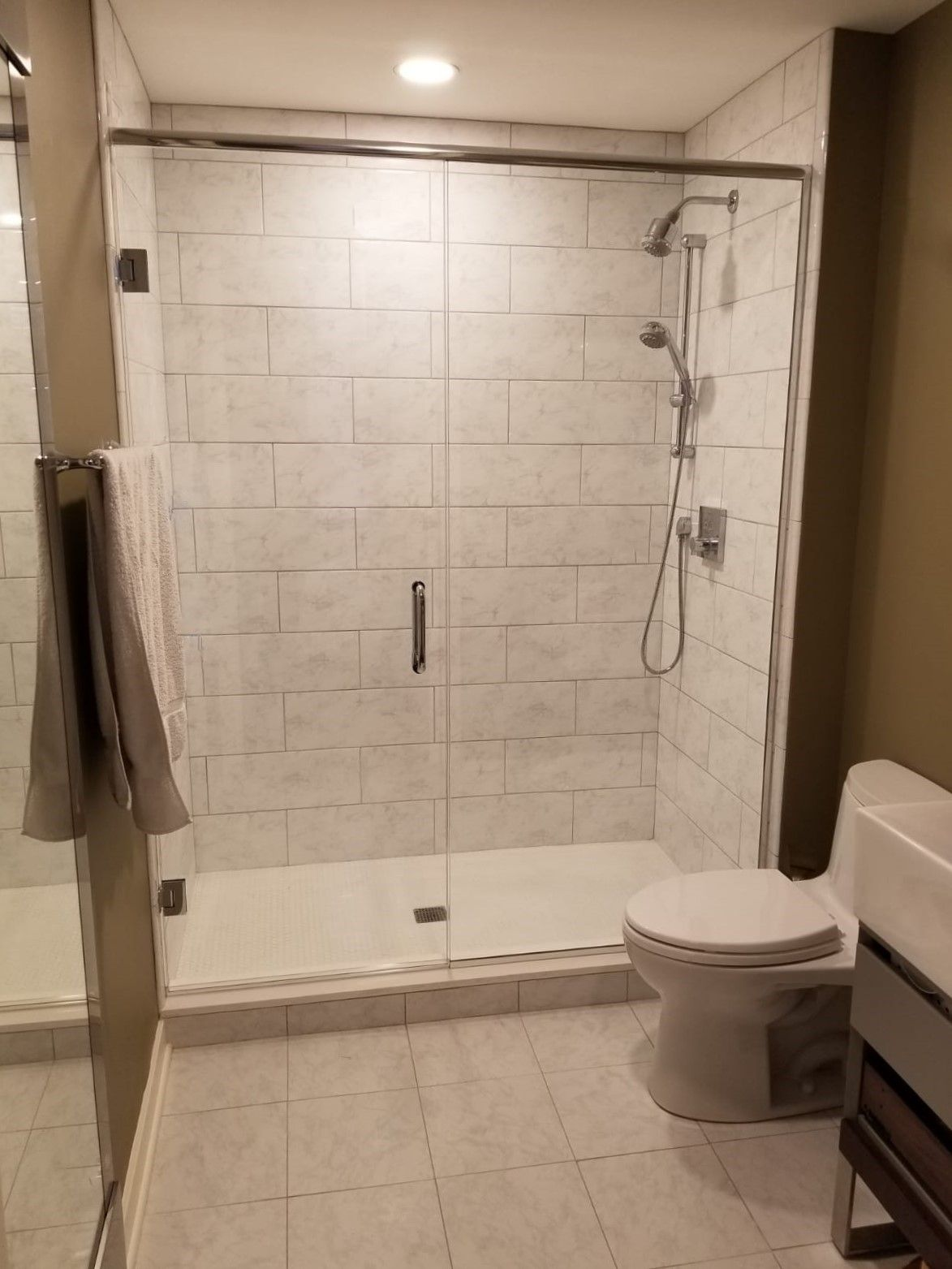 Towel Hook Through The Glass Mount With Images Shower Doors