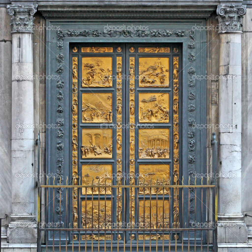 Florence Italy - Ghiberti Paradise Baptistery Bronze Door Duomo Cathedral Florence Italy Door Cast In The & Florence Doors \u0026 Front Doors Of Cathedral Of Santa Maria Del Fiore ... Pezcame.Com