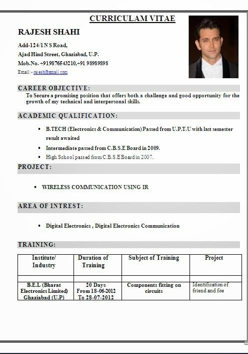 cv francais sample template ofbeautiful curriculum vitae    resume format with career objective