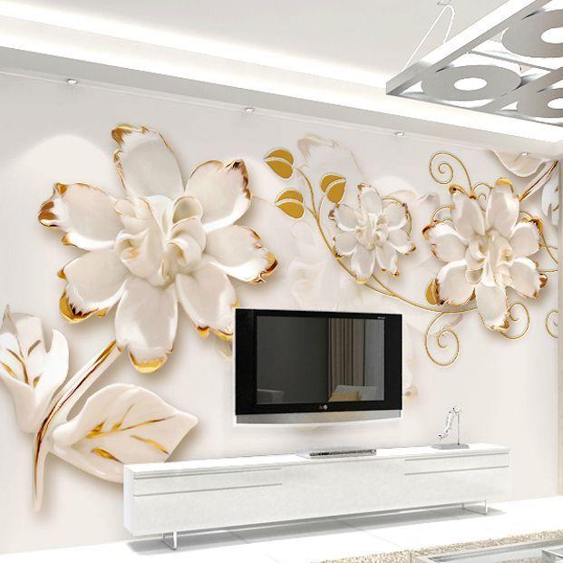 Attraktiv Free Shipping Three Dimensional Floral Wallpaper Minimalist Living Room TV  Backdrop Bedroom Mural Sofa 3d