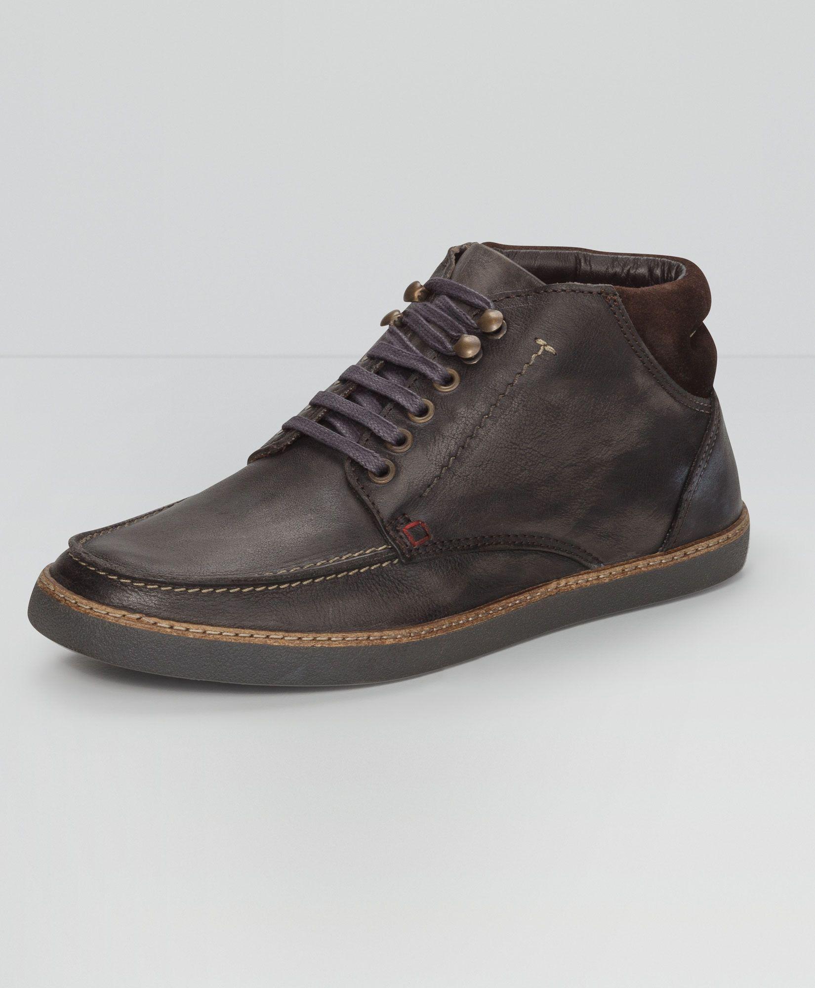 4c640de21b067 Levi's Leather Moc Boots - Grey - Accessories & Shoes | Him | Boots ...