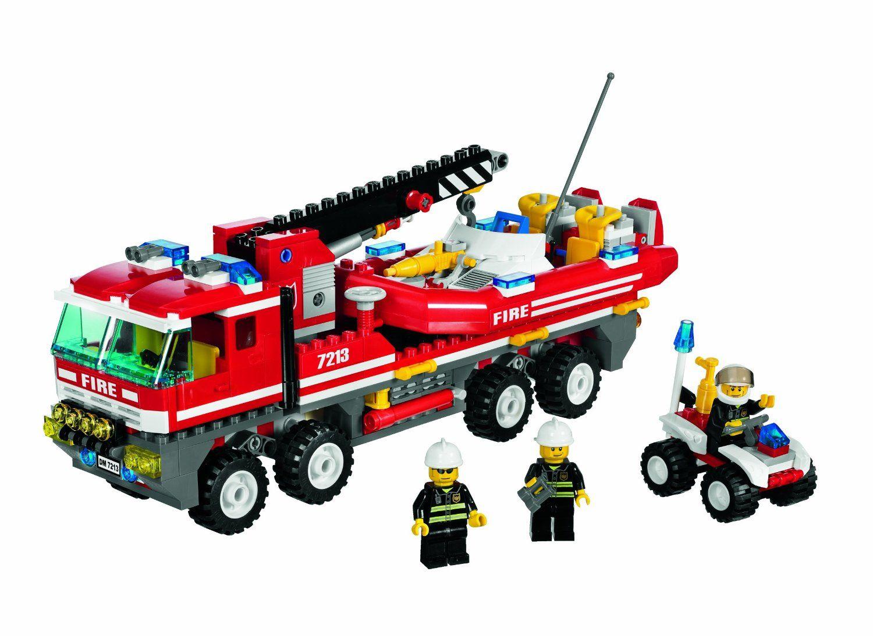 lego city jeu de construction le camion des pompiers amazonfr jeux et jouets - Lego City Pompier