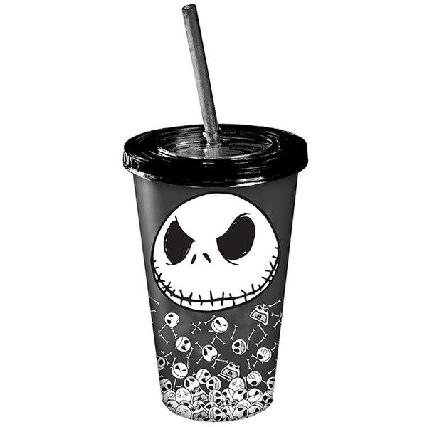 The Nightmare Before Christmas Nightmare Before Christmas Jack... ($9.99) ❤ liked on Polyvore featuring home, kitchen & dining, drinkware, christmas plastic cups, christmas cups, glow in the dark cups, plastic cups and plastic drinkware