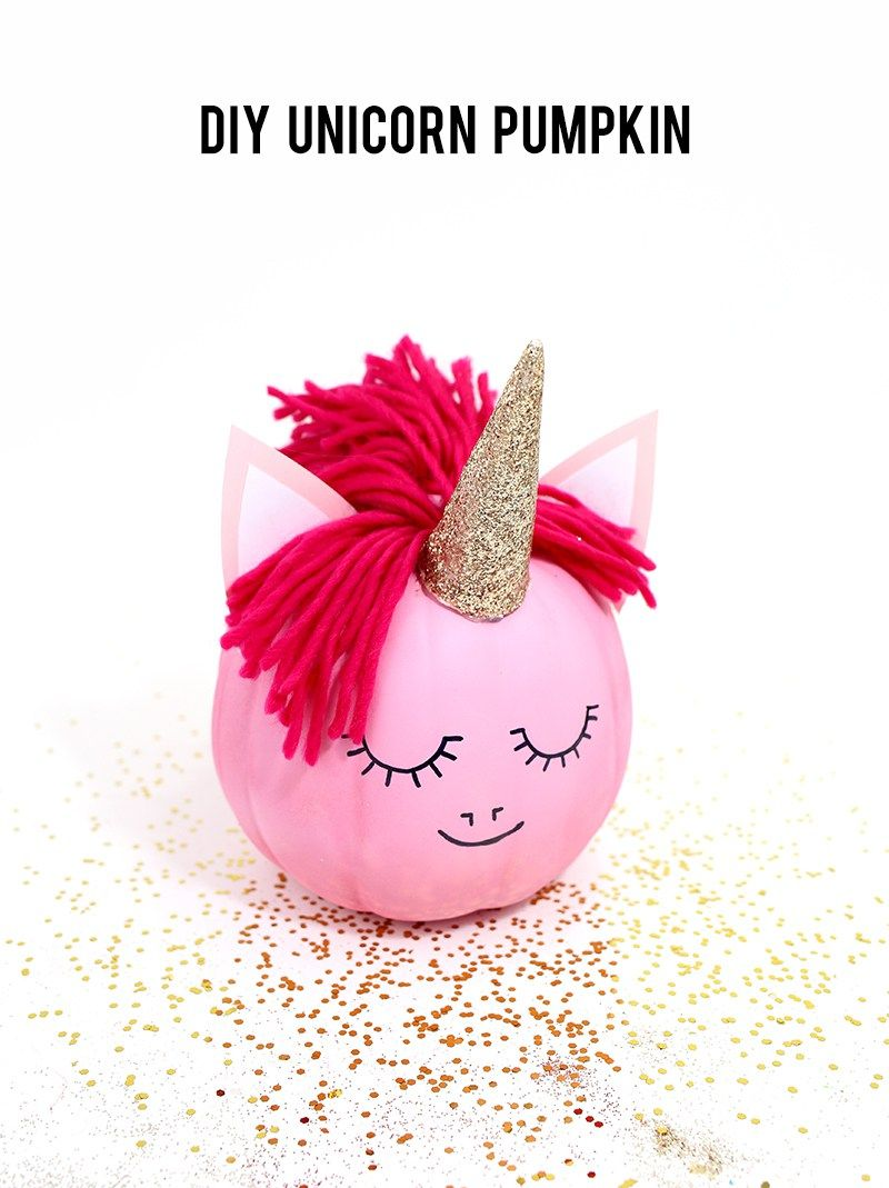 How to make a unicorn pumpkin - no carve pumpkin ideas from ...