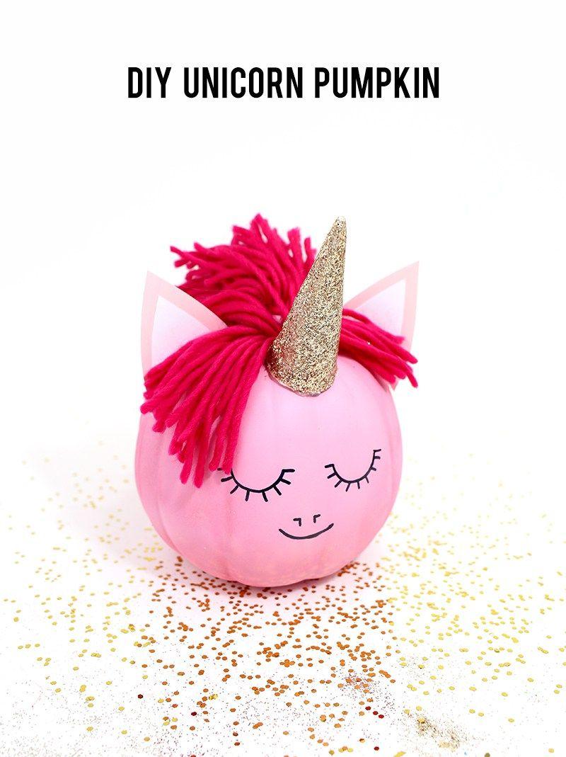 How to make a unicorn pumpkin , no carve pumpkin ideas from