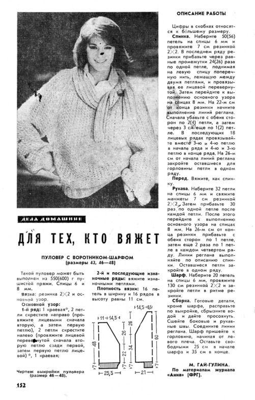 Журнал наука и жизнь вязание спицами