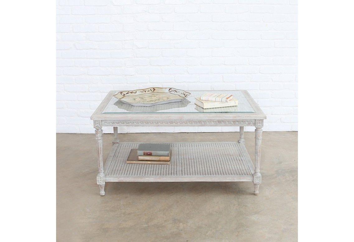 Cane coffee table grey 1150 rachel ashwell shabby