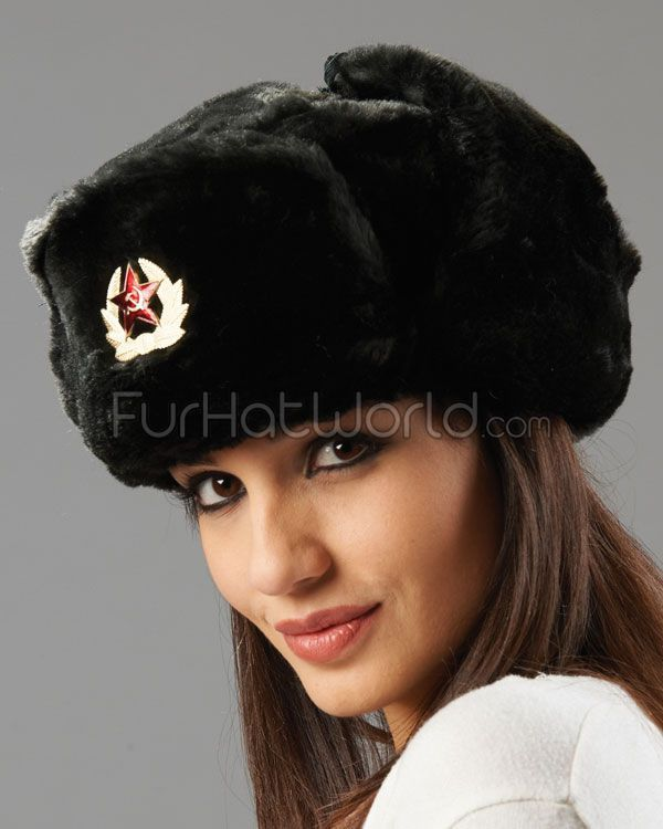 23d70aec4f0 The Sochi Black Faux Fur Ladies Russian Hat with Badge in 2019 | my ...
