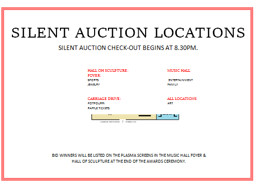 Silent Auction Location Display Map   Silent Auction Bid Sheet