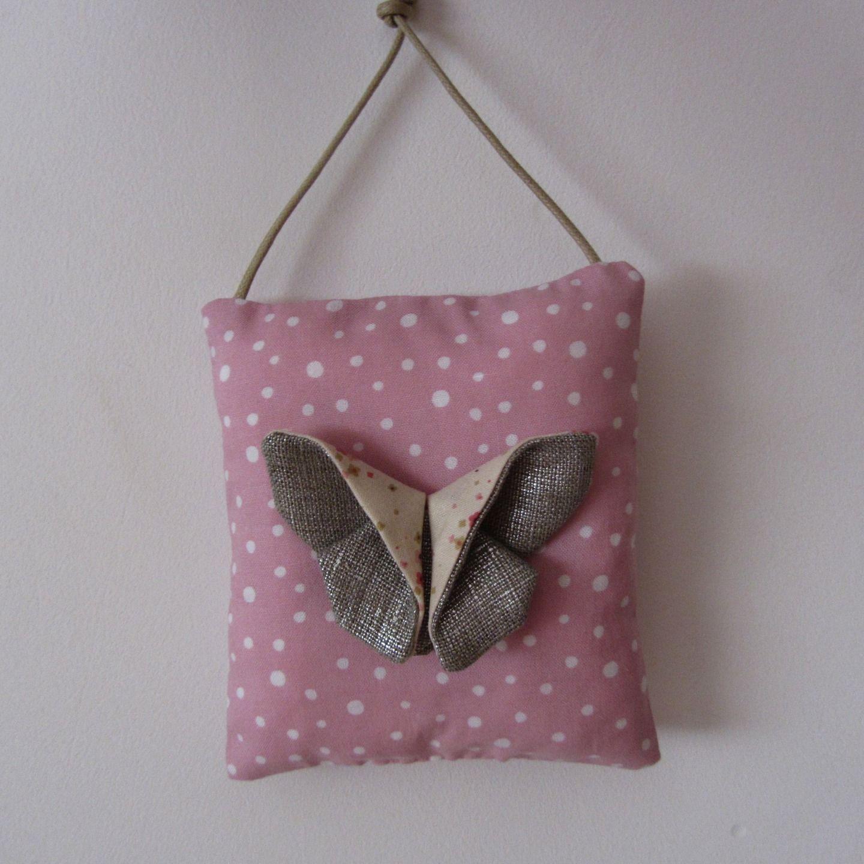 Décoration coussin mural papillon origami, plaque de porte papillon ...